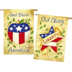 America the Beautiful 2Sided Vertical Flag -- This is an Amazon Affiliate link. Find out more about the great product at the image link.