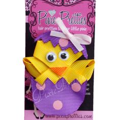 Easter Chicky Ribbon Sculpture-yellow, easter, chick, feathers, pin ...