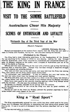 """WW1, 16 August 1916, The Sun, Sydney: """"Thirteenth Day of the Third Year of the War."""" - News From The Front (@FrontlineWW1) 