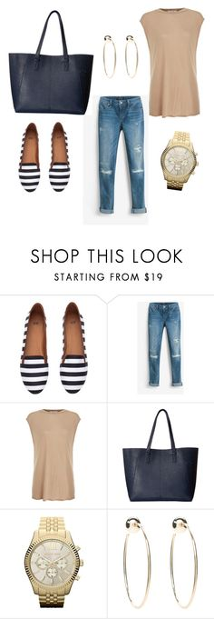 """""""Everyday casual Look"""" by hanakalesic ❤ liked on Polyvore featuring H&M, White House Black Market, Helmut Lang, Gabriella Rocha, MICHAEL Michael Kors and Bebe"""