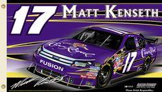 Matt Kenseth KENSETH NATION Crown Royal 2010 Giant 3'x5' NASCAR Flag - #17 Rousch Racing DeWalt - available at www.sportsposterwarehouse.com
