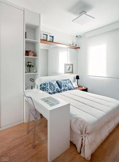 狭さを感じさせない☆海外の小さくてもおしゃれなベッドルーム | folk