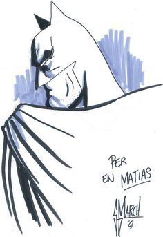 MIS DIBUJOS DE DIBUJANTES DE COMIC: Batman de Guillem March