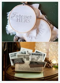 The photo holder above is one of the easiest DIY projects. Just grab an old book that you don't mind using and fold each page in the book in half. As they stack upon each other the pages will lean against each other making it a perfect little recycled turned charming picture holder.