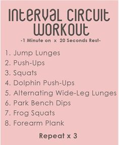 Interval circuit workout