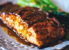 Grill Mates rub and a rich butter sauce make this salmon extra special.