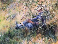 File:Carl Larsson - Girl by a Flowering Hawthorn Bush.JPG