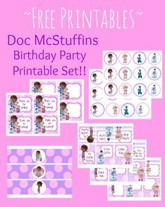 Free Doc McStuffin Birthday Party Printables - Delicate Construction