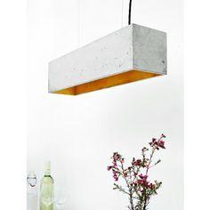 GANT lights [B4] Hängeleuchte Beton Gold minimalistisch