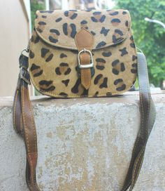 Leapord print Leather crossbody sling bag by ArmCandyForYou, $35.00