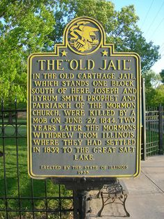 Old Carthage Jail Historic Marker by jimmywayne, via Flickr
