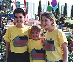 With Step by StepCostars Angela Watson and Staci Keanan, Season 1- http://www.snakkle.com/galleries/exclusive-photos-step-by-step-star-christine-lakin-gives-snakkle-an-inside-look-at-90s-sitcom-life/christine-lakin-angela-watson-staci-keanan-step-by-step-photo-gc/