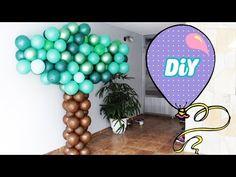 Como Fazer Árvore de Balões - How balloons tree - YouTube