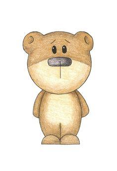 Children's Room Nursery Art - Teddy Bear, 5x7 Matted. $9.00, via Etsy.