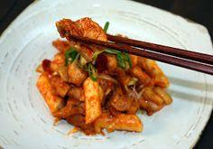 :: Korean Gourmet ::: Dak galbi / Hot fried chicken (닭갈비)