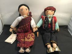 Handcrafted Filipino Ethnic Dolls - Vintage 1998 Muslim Boy & Girl (2 pcs.) (D9) in Dolls, Bears, Dolls, Other Dolls   eBay! Filipino, Muslim, Folk Art, Ethnic, Dolls, Christmas Ornaments, Best Deals, Holiday Decor, Bears