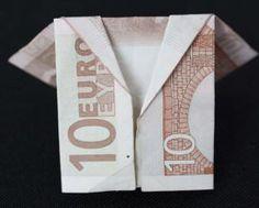 Geldschein Jacke falten