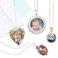 Photo Necklaces are the perfect way to be fashionable while keeping your loved ones close to your heart. The perfect picture necklace can complement any outfit like our dog tag photo necklace.