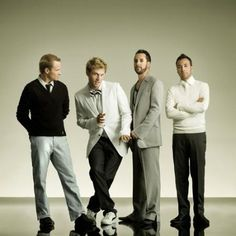 The Backstreet Boys (Brian Littrell, Nick Carter, A.J McLean and Howie Dorough) Backstreet Boys, Nick Carter, Backstreet's Back, Kevin Richardson, Faux Leather Dress, Thing 1, Actors, Haircuts For Men, I Love Music