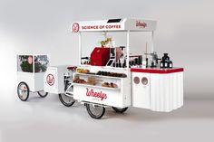 Wheelys http://fr.belzino.com/b52b4 Le #café mobile sur #vélo #wheelyscafe #énergiesolaire #gourmandise #entrepreneur