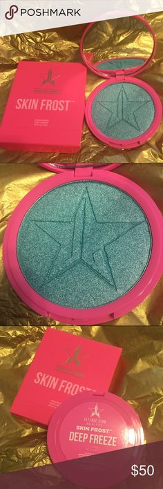 BRAND NEW Jeffree Star Skin Frost in Deep Freeze BRAND NEW Skin Frost highlighter from Jeffree Star Cosmetics in Deep Freeze. Never been used or swatched. Gorgeous sparkly blue. Completely sold out and yet to be restocked. Jeffree Star Cosmetics Makeup Luminizer