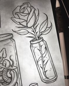 Art Sketches Still survives Kunst Skizzen – Überlebt noch – … Art Sketches – Still survives – sketches pencil # skitszenbuchku Pencil Art Drawings, Cute Drawings, Drawing Sketches, Tattoo Sketches, Tattoo Drawings, Aquarell Tattoos, Tattoo Zeichnungen, Desenho Tattoo, Arte Disney