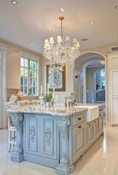 Astounding Cool Tips: Split Level Kitchen Remodel Fixer Upper country kitchen remodel posts.Kitchen Remodel Backsplash Home Decor country kitchen remodel hardware. Country Kitchen Designs, French Country Kitchens, French Country House, French Country Decorating, Kitchen Country, Country Blue, Rustic French, Modern Country, Colonial Kitchen