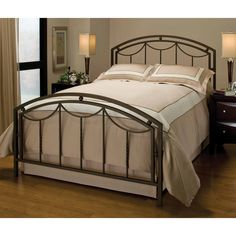 1501500 in by Hillsdale Furniture in Fredericksburg, VA - Arlington Bed Set In Bronze Metal (bed Frame Not Included) - Queen Full Bed Frame, King Bed Frame, Open Frame, Iron Headboard, Headboard And Footboard, Bed Headboards, Queen Headboard, Brass Headboard, Daybed Bedding