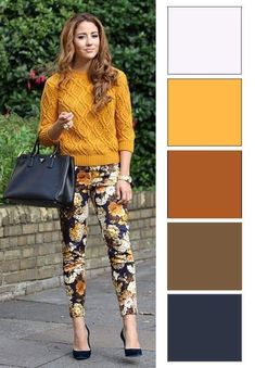 Colour Combinations Fashion, Color Combinations For Clothes, Fashion Colours, Colorful Fashion, Color Combos, Trendy Outfits, Fall Outfits, Cute Outfits, Fashion Outfits