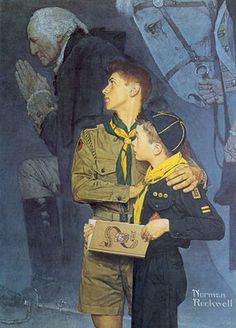"""""""Our Heritage"""" BIG Boy Scout Art Print by Norman Rockwell   eBay"""
