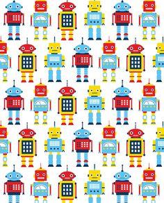 Robot Pattern by Emily Dumas