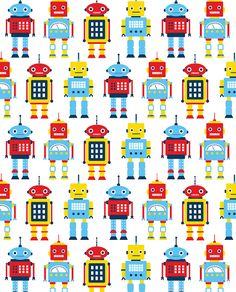 Robots by Flowers in May