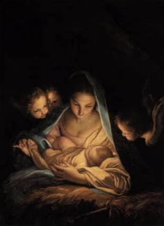 Carlo Maratta (1625-1713) The Holy Night  ca. 1652 - Gemaeldegalerie, Dresden