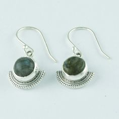 LABRADORITE STONE ATTRACTIVE DESIGN 925 SOLID STERLING SILVER EARRINGS #SilvexImagesIndiaPvtLtd #DropDangle
