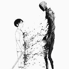 Run... A ghost is coming. No... It's coming out...? :: Kei Nagai // Ajin