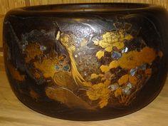 japanese hibachi | Japanese hibachi. | Love Japanese Antiques Japanese Porcelain, Japanese Pottery, History Of Ceramics, Japanese Hibachi, Irori, Old Stove, Japanese Furniture, Cypress Wood, Glazes For Pottery