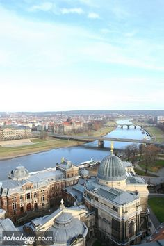 A view over Dresden from the observation deck of Frauenkirche Dresden (Germany)