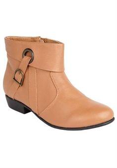 "comfortview leather booties | Plus Size Comfortview\u00AE \""Terri\"" leather bootie"
