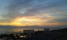 Our guest Maria Dimoula enjoys the amazing #sunset from #AlasResort! #beach