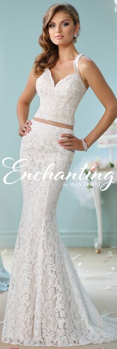Enchanting by Mon Cheri Spring 2016 ~Style No. 116135 #laceweddingdress