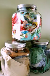 Keep Fabric Scraps...for small projects and applique