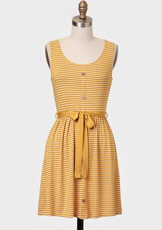 Beautiful Morning Striped Dress. Love the color, stripes, and shape. Can be dressed up or down.