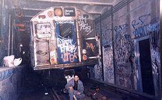 NYC GRAFFITI SUBWAY TRAIN LAY UP  by the reason season, via Flickr