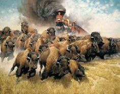 Frank McCarthy The Coming of the Iron Horse Canvas Giclee
