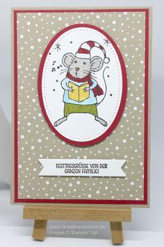 Weihnachtskarte Merry Mice