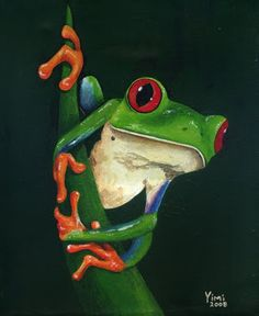 James Parker Art: FROG LEGacy Funny Frogs, Cute Frogs, Les Reptiles, Reptiles And Amphibians, Animals And Pets, Baby Animals, Cute Animals, Tree Frog Tattoos, Frog Species