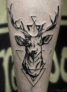 Men-Geometric-Deer-Tattoos.jpg 500×686 pixels