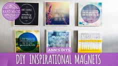 Inspirational Quote Magnets - an easy craft that looks beautiful