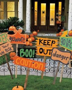 DIY Halloween signs-love it!