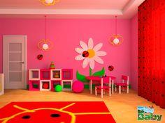 Esta forma de pintar las paredes de la habitación de la pequeña de la casa es una gran manera de hacerla sentir feliz.